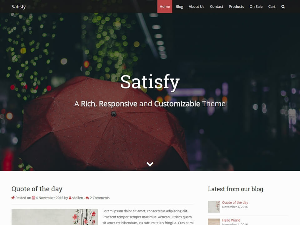 Satisfy - Webbjocke